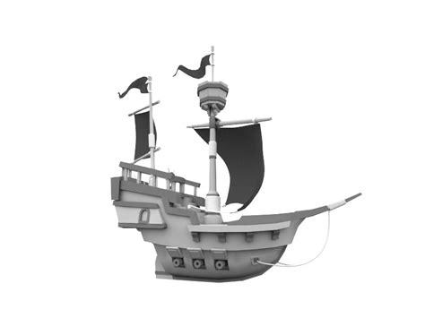 Cartoon Boat C4d by Cartoon Pirate Ship 3d Fbx