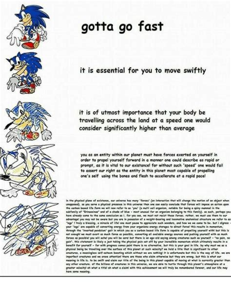 Gotta Go Fast Meme - gotta go fast it is essential for you to move swiftly it is of utmost importance that your body