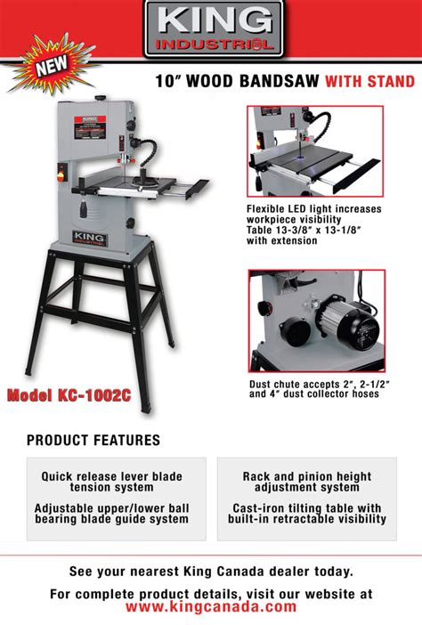 news  king canada power tools woodworking