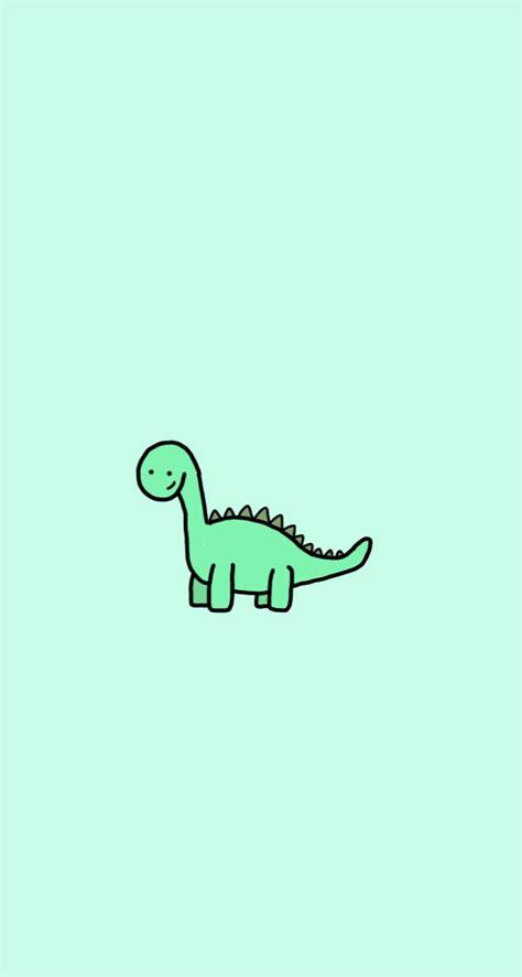 kawaii aesthetic dinosaur simple wallpapers