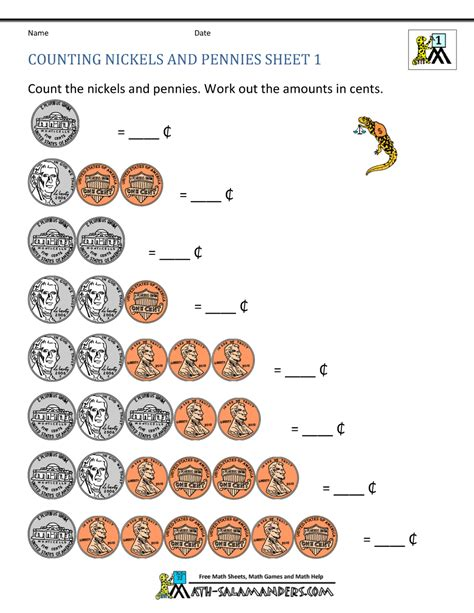 free printable counting coins worksheets counting money worksheets 1st grade