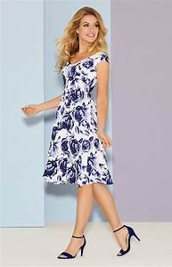 fleur swing dress short ink blue evening dresses With robe a fleur ete