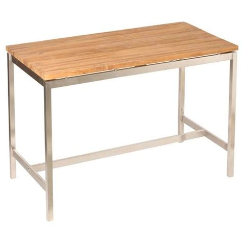 table de bar cuisine table de bar teck massif roots et acier brossé achat