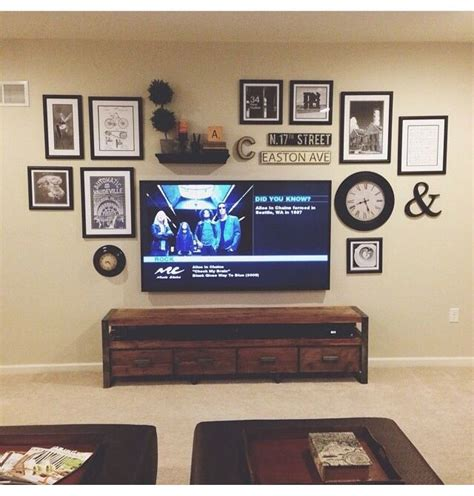 Your living room is one of the most important rooms in your home. Gallery wall behind tv   Wall decor above tv, Window wall decor, Wall decor living room