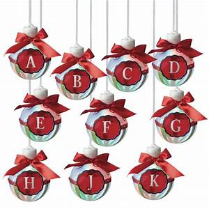 Led lighted monogram christmas ornaments letters a k set for Lighted letter ornaments