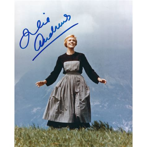 The captain grows closer to his children, too, coming to understand the value and beauty of the freedoms that maria has given them. Julie Andrews Signed 8 x 10 Photo The Sound of Music Autograph