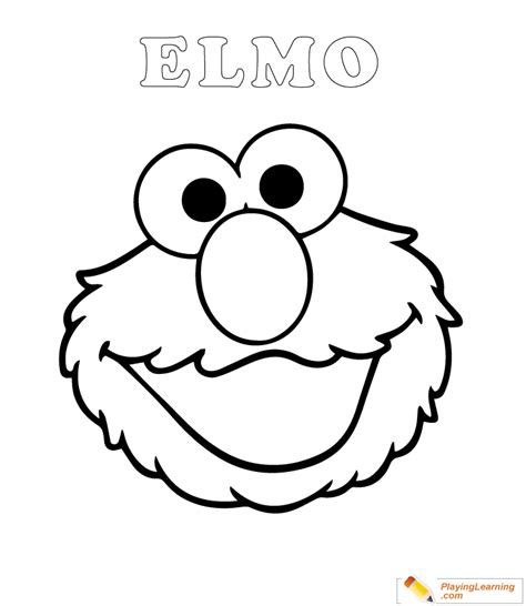 Coloring Easy by Easy Elmo Coloring Page 06 Free Easy Elmo Coloring Page