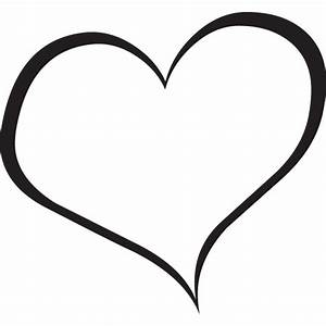 Heart Black And White Outline - ClipArt Best