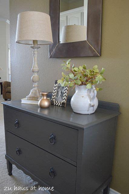 small dresser makeover  urbane bronze paint