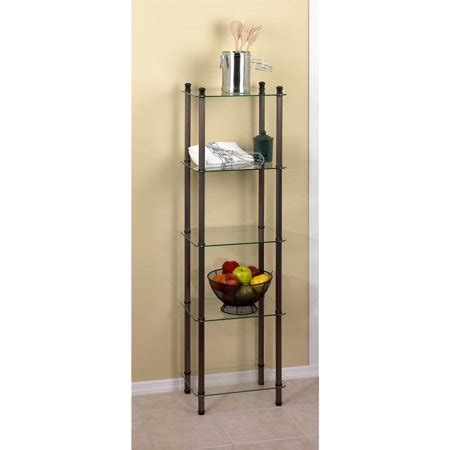Metal Etagere Tower by 5 Shelf Rubbed Bronze Tower L Etagere Walmart