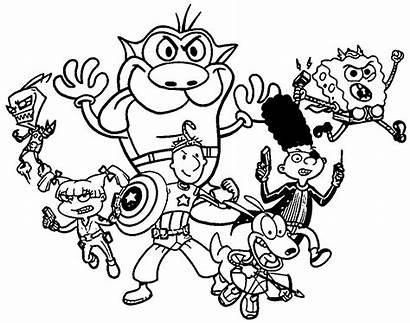 90s Coloring Pages Nickelodeon Cartoon Printable Cartoons
