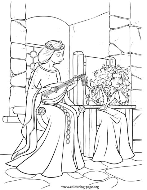 brave merida   mother elinor coloring page