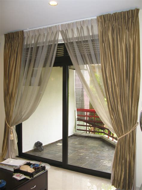 choosing curtains  sliding glass doors style
