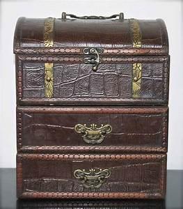 Boite A Bijoux Cuir : bo te bijoux cuir laiton et bois catawiki ~ Teatrodelosmanantiales.com Idées de Décoration