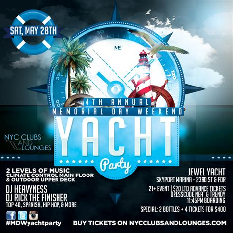 Boat Party Nyc Memorial Day Weekend 4th annual memorial day weekend boat party nyc clubs and