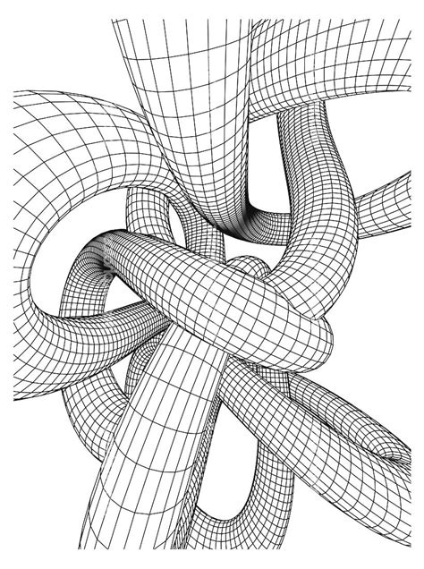 tubing optical illusions op art adult coloring pages page
