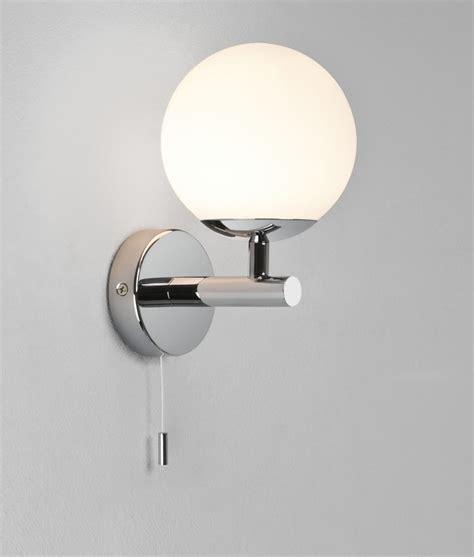 glass globe bathroom wall light