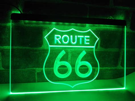 Lb371 Historic Route 66 Mother Road Led Neon Light Sign Nr