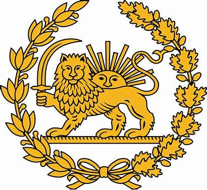 Lion Sun Iran Svg Flag Emblem Iranian