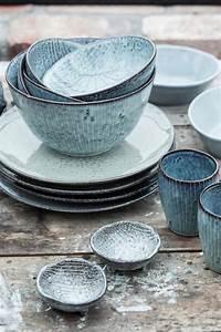Geschirr Set Steingut : greyblue ceramica steingut geschirr keramik geschirr steingut ~ Watch28wear.com Haus und Dekorationen