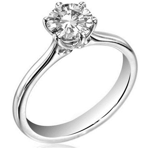 1ct diamond solitaire platinum 950 engagement ring uk hallmarked du124 ebay