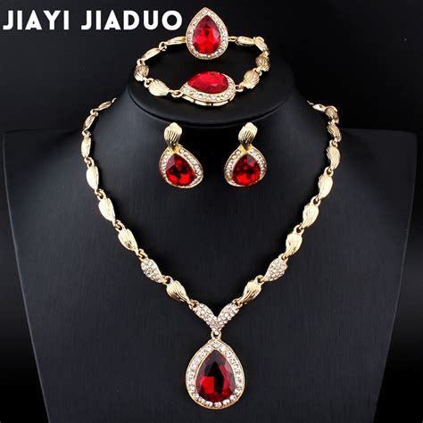 jiayijiaduo wedding jewelry set african gold color jewel