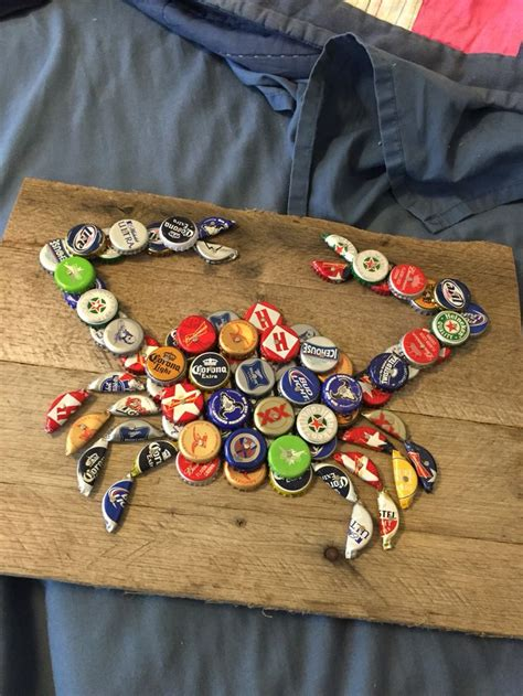 images  beer bottle cap crafts  pinterest
