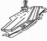 Carrier Aircraft Navy Coloring Pages Clipart Drawing Naval Nimitz Sketch Battleship Class Printable Ship Easy Airplane Army Vehicles Thecolor Coloringbay sketch template
