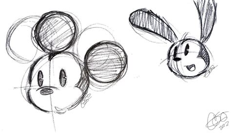 Micket Mouse And Oswald The Lucky Rabbit Sketch Something