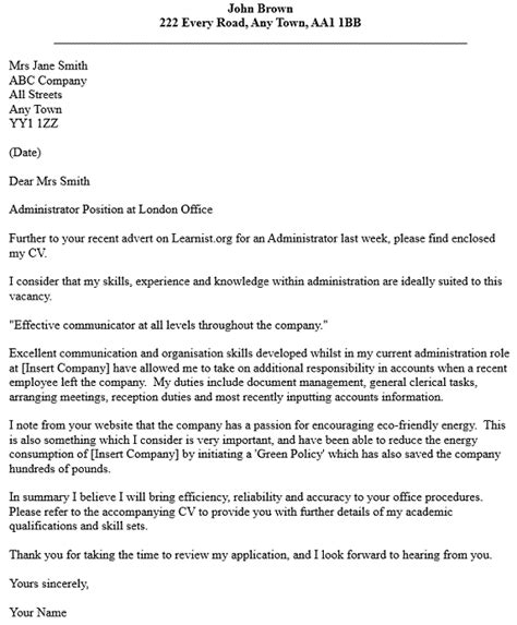 Cover Letter For An Administrator by Administrator Cover Letter Exle Forums Learnist Org