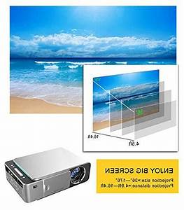 Mcwell Mini Projector 2500 Lumens Led Portable Full Hd