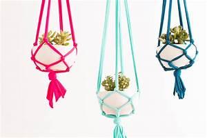 Suspension Pour Plante : diy fabriquer une suspension pour ses plantes en moins ~ Premium-room.com Idées de Décoration