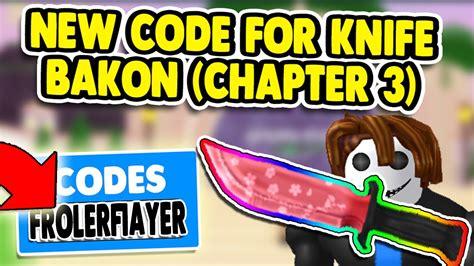 roblox bakon codes   knife skin bakon