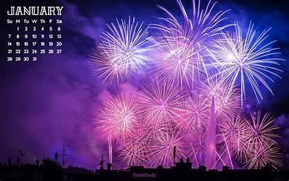 January Fireworks Desktop Calendar Close Calendars Monthly