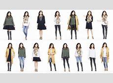 10 Pieces = 15 Looks Winter Capsule Wardrobe Minimalist