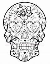Coloring Skull Sugar Printable Simple Glider Pdf Owl Candy Flaming Getcolorings Cool sketch template