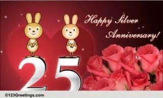 happy silver anniversary  milestones ecards greeting cards