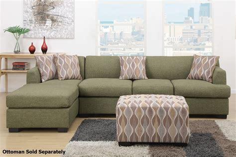 fabric sectional sofas montreal iii green fabric sectional sofa a sofa