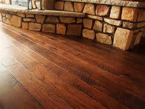 integrity hardwood floors custom mixed width stained hickory kitchen remodel ideas