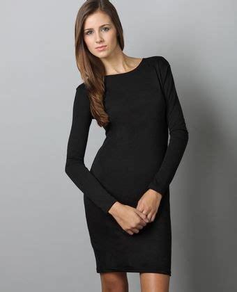 Vestido manga larga negro