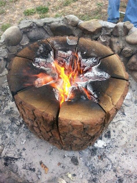 swedish fire log borrowed from native american colonizers fire pit design ideas