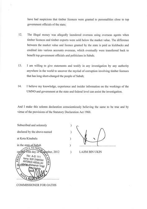Biasanya, surat rekomendasi ini digunakan untuk. Akuan Bersumpah Datuk Seri Lajim Ukin Mengenai Wang RM40 juta   Rafizi Ramli