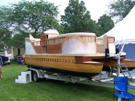 Wooden Boat Ideas by Viewing A Thread Pontoon Boat Built Completly Out Of