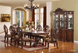 formal dining room sets windham formal dining set walnut brown wood carved dining room set
