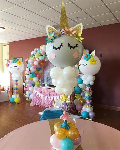 Unicorn Balloon Centerpiece Unicornbirthdayparty