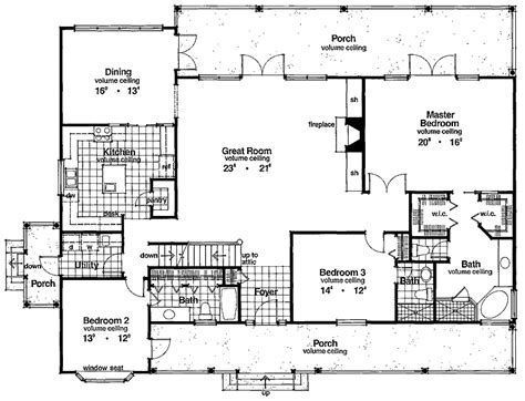 bedroom floor family home plans  sq ft ranch homes interor french country house plans
