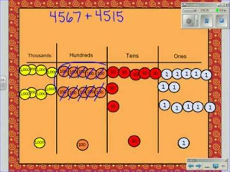 addtion using place value discs youtube
