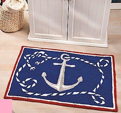 nautical rugs for boats nautical hooked rug anchor brand new decor for home