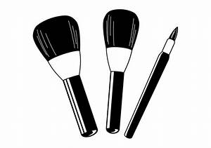 Library Of Makeup Brushes Jpg Black And White Png Files