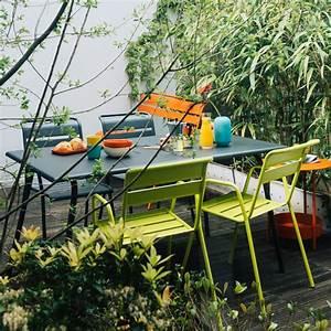 Fermob Salon De Jardin : salon de jardin fermob monceau 4 6 pers carbone verveine plantes et jardins ~ Teatrodelosmanantiales.com Idées de Décoration